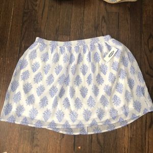 Old navy xs white and blue skirt
